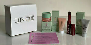 CLINIQUE TRAVEL SIZE BEST SELLER SERUM / EYE CREAM / MOISTURIZER / LIPSTICK $40