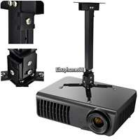 Projector Mount - Universal Ceiling Bracket LCD DLP Adjustable Tilt 44 lbs EHE8
