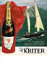 PUBLICITE ADVERTISING  1974    KRITER  extra léger au CAP HORN ROYAL NAVY