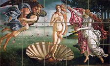 Art Botticelli Mural Ceramic Backsplash Tile #162