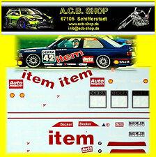 1:18 BMW M3 E30 DTM - ITEM #42 H. Becker - Decalcomania,Trasferibile