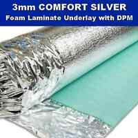 3mm Comfort Silver Laminate Engineered Wood Floor Underlay Sound Damp Proof DPM