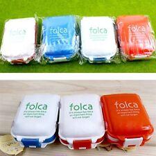 New Folca Portable 3 Layer 8 Compartment Travel Medicine Pill Case Storage Box