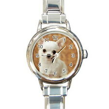 CHIHUAHUA Round Italian Charm Watch Silver for women Fashion Hot Gift NEW