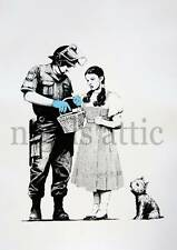 BANKSY   STOP AND SEARCH   A4  PRINTED POSTER