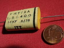 CONDENSATORE F. frequenza morbido alta Volt ITT PMT 3,3µf 400v = Slide d20x45 23622