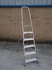 Aluminium Step Ladder EN131 Folding Platform Steps Grab Rail Youngman Stepladder