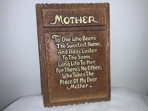 Vintage Multi Products Plaque-Tribute to MOTHER #1566