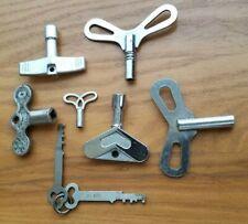 New listing Lot of 8 Clock Winding Keys Lock Box Key Set Stainless Steel