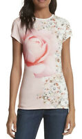 NWT Women's Ted Baker London S/S Blenheim Jewels Fitted Tee Shirt Top Sz 4 Large