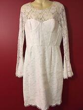 BCBG MAX AZRIA Women's White Salina Lace Dress - Size 10 - NWT $338