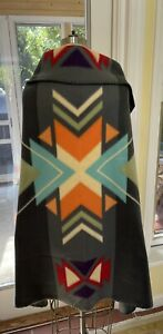 """Wrap Scarf St Labre Native American Indian School Blanket Large Size 61"""" X 38"""""""