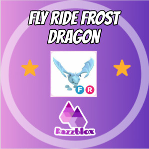 ⭐CHEAP + FAST⭐ Adopt*Me (Fly, Ride) FR Frost Dragon   Virtual Item ❄️