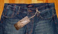 $175 New Ed Hardy Christian Audigier Skull Men's Denim Jean Pants Size W 36 L 34