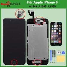 """VORMONTIERT Display für iPhone 6 4.7"""" mit Retina LCD Glas Komplett Front Schwarz"""