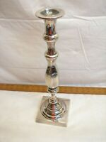 Baldwin Brass Large Silver Plate Taper Candle Holder Candlestick Colonial Ornate