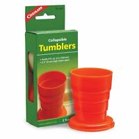 Coghlan's Collapsible Tumblers 2-Pack Strong Colorful Plastic Camping Packing