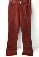 Arturo Leather Pants Women's Size 28 x 30 Red