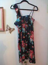 Jodi Kristopher - Black/Multi-color Empire Dress w/built-in padded bra - Size M