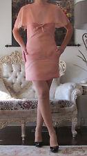 EMILIO PUCCI Runway Celebrity Coral/Salmon Silk/Chiffon dress It 40,US 2-6/XS-S