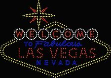 Welcome to Fabulous Vegas Nevada Bling Rhinestone Transfer Hot Fix Iron On