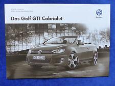 VW Golf VI GTI Cabrio - Preisliste MJ 2014 - Prospekt Brochure 06.2013