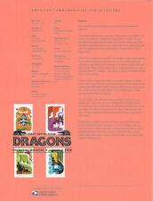 #1825 (2.00)  Forever Dragons #5307-10 Souvenir Page