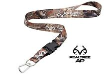 Realtree AP Camo Neck Strap With Quick Release Key Ring & Mini Carabiner Hunting