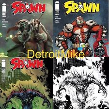 SPAWN #313 SET A B C & 1:5 D  BW Virgin PRESALE 12/23 Release NM- Or Better
