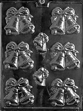W002 Large Bells Chocolate Candy Soap Mold with Instructions