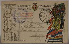 POSTA MILITARE 97 FRANCHIGIA TIMBRO 3° REGGIMENTO BERSAGLIERI  2.7.1918 #XP443C