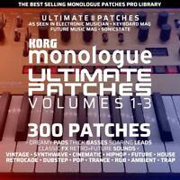 300 KORG MONOLOGUE ULTIMATE PATCHES • #1 Bestseller • Easy USB Install • LISTEN