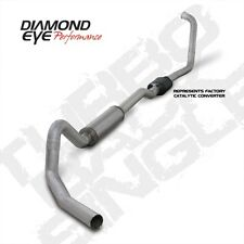 "Diamond Eye K4352A 4"" Turbo-Back Exhaust, Single, Alum, For 03-07 Ford Excursion"
