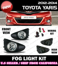 12 13 14 TOYOTA YARIS HATCH Fog Light Driving Lamp Kit w/ switch wiring (CLEAR)