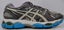 Asics Gel Nimbus 14 Women's Running Shoes Size US 7.5 M (B) EU 39 Silver T291N