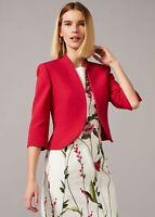 Phase Eight Tammy Occasion Jacket Sz UK16 RRP£130 Lipstick Elegant Jacket Bolero