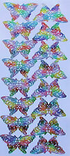 LOVELY MULTI COLOURED BUTTERFLIES PEEL OFF STICKERS CARDMAKING