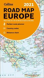 Map of Europe 2021: Folded road map (Collins Road Atlas) by Collins Maps