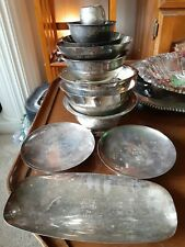 Vtg Yacht Race Trophy Silver Bowls Penguins Nyack Boat Club Hudson River Regatta