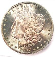 1887-S Morgan Silver Dollar $1 Coin - Certified ICG MS63 (BU UNC) - Rare in MS63