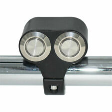 Metal LED Dual Push Button Handlebar Mount Switch Self-Latch for Motorcycle ATV