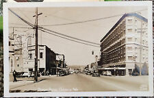 CHEHALIS, WASHINGTON Photo Post Card STREET SCENE 1944 Lewis Co. GARAGE, HOTELS
