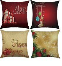 4pcs Merry Christmas Decorative Luxury Pillow Cushion Cover 45X45cm 18 X 18 inch