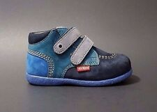 New $80 KICKERS Babyscratch Shoes Boots Toddler Boys LEATHER Size 6 USA/22 EURO