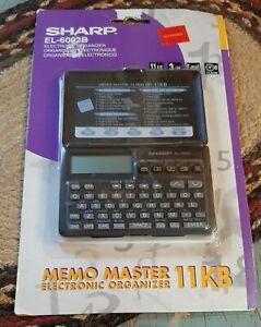 New Sealed SHARP EL-6092B Sealed Electronic Organizer Memo Master 11KB NOS