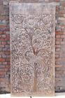 Vintage Floral Peacock Carved Barn Door Panel Wall Art Sculpture InteriorDoor 84