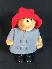 "PADDINGTON BEAR Miniature Plush 5"" - Black Rubber Boots Red Hat - Eden Toys"