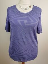 PLUS SIZE 20/22 summer lavender sparkly stretch top ANNA ROSE BNWT (M354#)