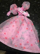 Barbie Birthday Pretty Pink Party Dress Girl Doll 80's Style Vtg