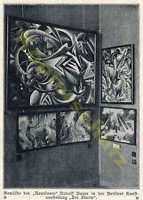 Rudolf Bauer Ausstellung Der Sturm Neutöner Berlin Malerei Kunst Avantgarde 1918